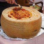 Spaghetti Parmesan a la Romano