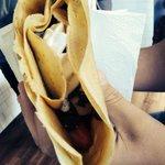 Strawberries bananas Nutella whipped cream :)