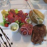 le menu du jour assiette trio de boeuf