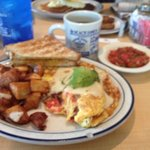 Awesome omlettes and great pancakes too!