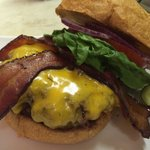 Applewood Smoked Bacon Cheddar Burger