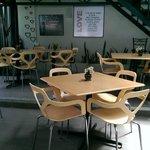 The environment inside restaurant