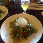 Beer and Thai salad at Alchemy