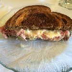 Corned beef cheese on Rye bread at Murphys Hotel