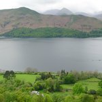 View to Cat Bells across Derwentwater from above Barrow House