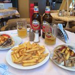 Great lunch, best Gyro the island. Cold beer in a chilled glass