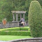 Meditating in the garden