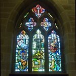 Plague window in St. Lawrence's Church, Eyam