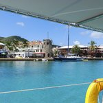 Leaving the harbor at Christiansted