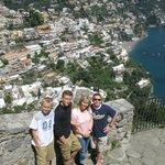 On Amalfi coast overlooking Positano