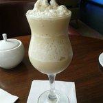 Butterscotch iced latte