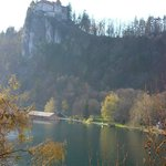 view of Bled Castle from our room