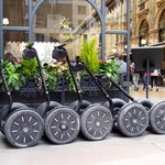 Segways parked and locked