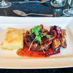 Main: Featherblade of beef, dauphinoise & honey roast vegetables (may 2014)