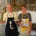 Die liebenswürtigen Gastgeber Aldo und Mathilda