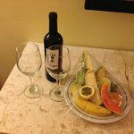 Our welcome fruit plate with our wedding package