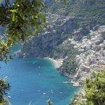 Blick von Novelle auf Positano