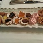 Complimentary petit fours