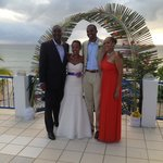 The Bride and Groom and family