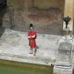 A Roman soldier at the Baths