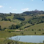 View from Poggio Alloro to San Gimignano