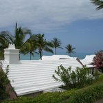 The terraced roof of one of the cottages at Cambridge Beaches resort in Bermuda.