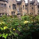 Rose garden at Hoghton Tower