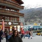 Praça  central  de  Zermatt