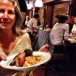 Ann Dunham loved her dinner.  Photo by Terry Hunefeld