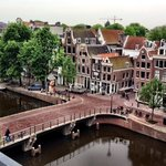 Our view of the Singel Canal and neighborhood - photo by Terry Hunefeld