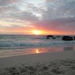 Kua Beach setting sun