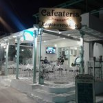 cafeateria at night