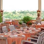 terrasse d'été avec vue