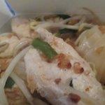 Nouilles sautées au poulet/cacahuètes (emportées)