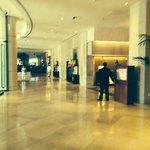 Lobby of Beverly Hilton Hotel