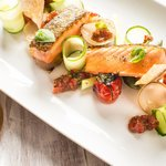 Roasted spring salmon