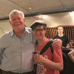 my husband with Tawse Winery owner Muray