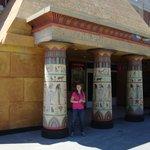 At the columns