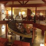 A winding staircase leads from the lobby to the 2nd floor. Breakfast is served on the landing sh