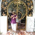 la puerta de entrada a la casa