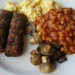Veggie sausages available on request!