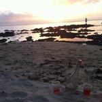 Best spot for sunset , 10 min walk along beach