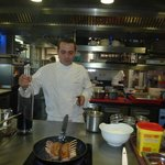 Chef Cyril in cooking class