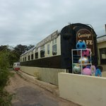 Outside view of Railway Carraige Cafe Exmouth