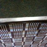 Carpet in front of room door