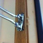 Broken room latch