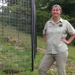 Tanya Smith with Ava just after she was released into new habitat