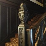 Carved bannister, Mansions on Fifth