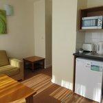 living room kitchen area