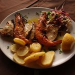 Swordfish and prawn grill, yum...